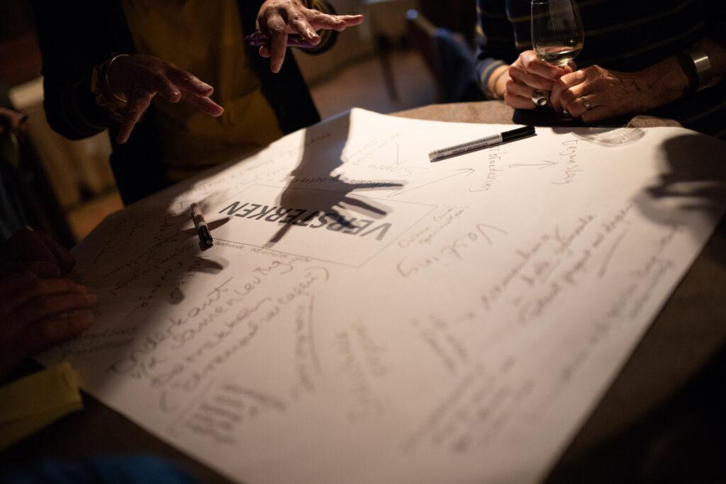 Vele ideeën tijdens de bijeenkomst met cultuurliefhebbers